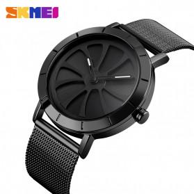 SKMEI Jam Tangan Analog Pria Strap Stainless Steel - 9204 - Silver Black - 2