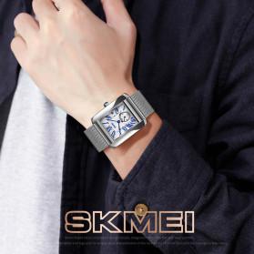 SKMEI Jam Tangan Analog Pria Strap Stainless Steel - 9191 - Silver Black - 4