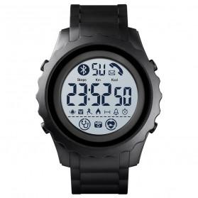 SKMEI Jam Tangan Smartwatch Pria Bluetooth Pedometer Heartrate - 1626 - Black White - 1