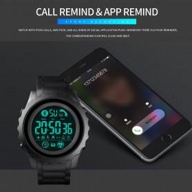SKMEI Jam Tangan Smartwatch Pria Bluetooth Pedometer Heartrate - 1626 - Black White - 3