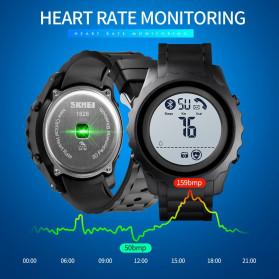 SKMEI Jam Tangan Smartwatch Pria Bluetooth Pedometer Heartrate - 1626 - Black White - 4