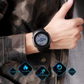 SKMEI Jam Tangan Smartwatch Pria Bluetooth Pedometer Heartrate - 1626 - Black White - 5
