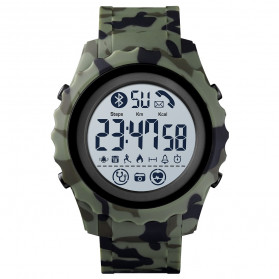 SKMEI Jam Tangan Smartwatch Pria Bluetooth Pedometer Heartrate - 1626 - Camouflage