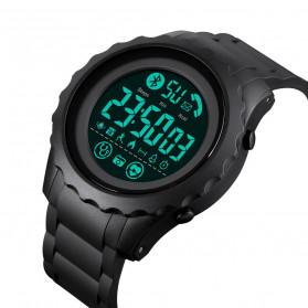 SKMEI Jam Tangan Smartwatch Pria Bluetooth Pedometer Heartrate - 1626 - Black/Black - 2