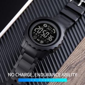 SKMEI Jam Tangan Smartwatch Pria Bluetooth Pedometer Heartrate - 1626 - Black/Black - 6