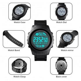 SKMEI Jam Tangan Smartwatch Pria Bluetooth Pedometer Heartrate - 1626 - Black/Black - 8