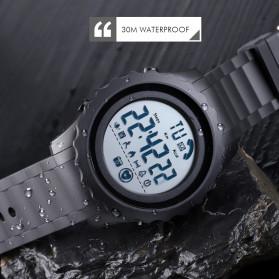 SKMEI Jam Tangan Smartwatch Pria Bluetooth Pedometer Heartrate - 1626 - Blue - 7