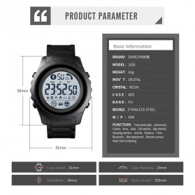 SKMEI Jam Tangan Smartwatch Pria Bluetooth Pedometer Heartrate - 1626 - Blue - 9