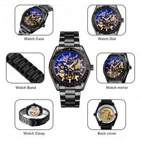 SKMEI Jam Tangan Mechanical Pria Automatic Movement - 9194 - Black Gold - 8