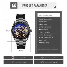 SKMEI Jam Tangan Mechanical Pria Automatic Movement - 9194 - Black Gold - 9
