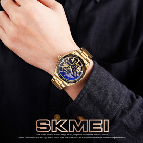 SKMEI Jam Tangan Mechanical Pria Automatic Movement - 9194 - Silver - 5