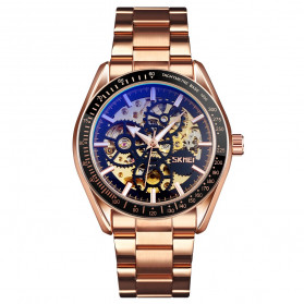 SKMEI Jam Tangan Mechanical Pria Automatic Movement - 9194 - Rose Gold