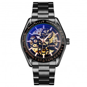 SKMEI Jam Tangan Mechanical Pria Automatic Movement - 9194 - Black