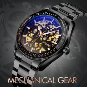 SKMEI Jam Tangan Mechanical Pria Automatic Movement - 9194 - Golden - 4