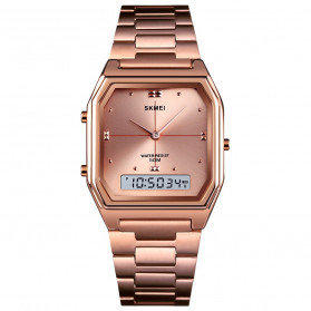 SKMEI Jam Tangan Analog Digital Modern Pria - 1612 - Rose Gold