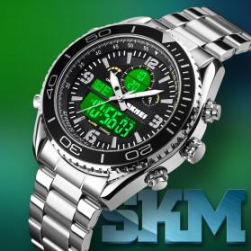 SKMEI Jam Tangan Digital Analog Pria - 1600 - White/Silver - 3