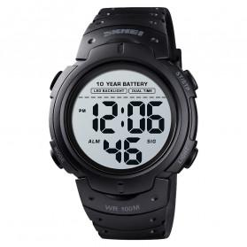 SKMEI Jam Tangan Digital Pria Water Resistant 100M - 1560 - Black - 1