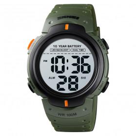 SKMEI Jam Tangan Digital Pria Water Resistant 100M - 1560 - Army Green