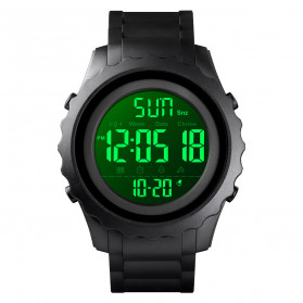 SKMEI Jam Tangan Sporty Digital Pria - 1624 - Black - 2
