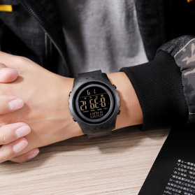 SKMEI Jam Tangan Sporty Digital Pria - 1624 - Black - 5