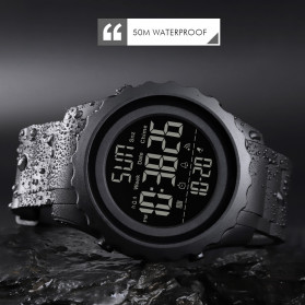 SKMEI Jam Tangan Sporty Digital Pria - 1624 - Black - 9
