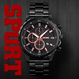 SKMEI Jam Tangan Analog Pria Strap Stainless Steel - 1551 - Black - 6