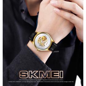 SKMEI Jam Tangan Mechanical Pria Automatic Movement - 9209 - Black Gold - 3