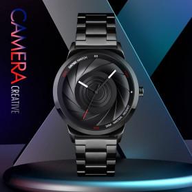 SKMEI Jam Tangan Analog Pria Strap Stainless Steel - 9210 - Black - 2