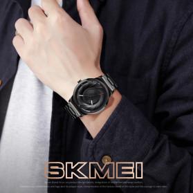 SKMEI Jam Tangan Analog Pria Strap Stainless Steel - 9210 - Black - 3
