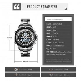 SKMEI Jam Tangan Analog Digital Pria - 1499 - Silver - 11
