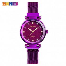 SKMEI Jam Tangan Analog Wanita Strap Stainless Steel - Q022 - Purple