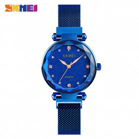 SKMEI Jam Tangan Analog Wanita Strap Stainless Steel - Q022 - Blue