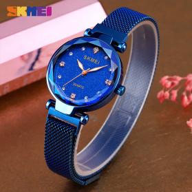 SKMEI Jam Tangan Analog Wanita Strap Stainless Steel - Q022 - Blue - 4