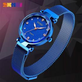 SKMEI Jam Tangan Analog Wanita Strap Stainless Steel - Q022 - Blue - 6