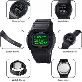 SKMEI Jam Tangan Smartwatch Pria Bluetooth Pedometer Heartrate - 1629 - Black - 2