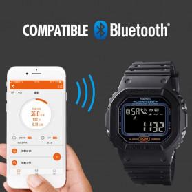 SKMEI Jam Tangan Smartwatch Pria Bluetooth Pedometer Heartrate - 1629 - Black - 7