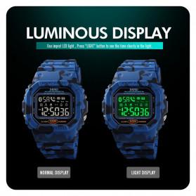 SKMEI Jam Tangan Smartwatch Pria Bluetooth Pedometer Heartrate - 1629 - Black - 10
