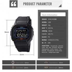 SKMEI Jam Tangan Smartwatch Pria Bluetooth Pedometer Heartrate - 1629 - Black - 13