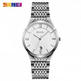 SKMEI Jam Tangan Analog Pria Strap Stainless Steel - Q024 - Silver