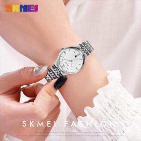 SKMEI Jam Tangan Analog Wanita Strap Stainless Steel - Q023 - Black - 2