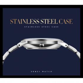 SKMEI Jam Tangan Analog Wanita Strap Stainless Steel - Q023 - Black - 7
