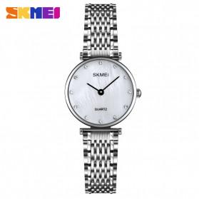 SKMEI Jam Tangan Analog Wanita Strap Stainless Steel - Q026 - Silver