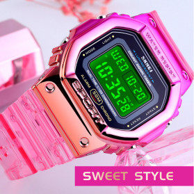SKMEI Jam Tangan Digital Wanita - 1622 - Watermelon Red - 5