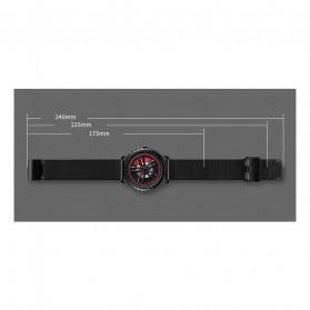 SKMEI Jam Tangan Analog Pria Stainless Steel Strap - 1634 - Black White - 11