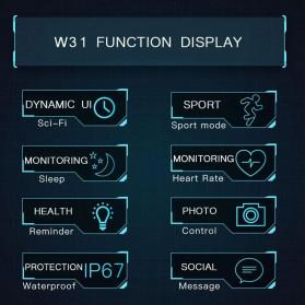 SKMEI Bozlun Jam Tangan Analog Digital Smartwatch - W31 - Black - 8
