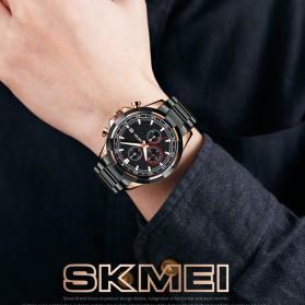 SKMEI Jam Tangan Analog Pria Strap Stainless Steel - 9192 - Silver Black - 5