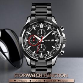 SKMEI Jam Tangan Analog Pria Strap Stainless Steel - 9192 - Silver Black - 6