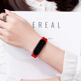 SKMEI Wristband Jam Tangan Gelang LED with Thermometer - 1672 - Black - 6