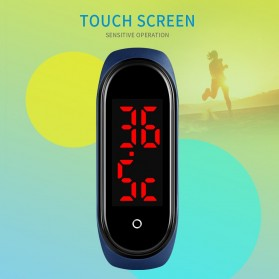 SKMEI Wristband Jam Tangan Gelang LED with Thermometer - 1672 - Black - 7
