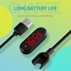 SKMEI Wristband Jam Tangan Gelang LED with Thermometer - 1672 - Black - 8
